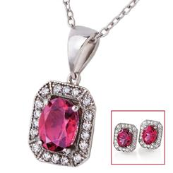 Silenda Rubellite Necklace & Earrings Set