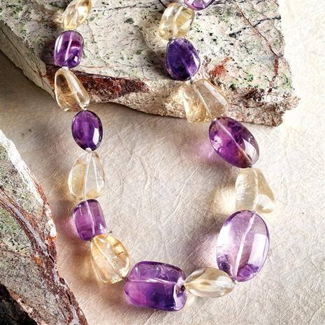 Verano Amethyst & Citrine Necklace