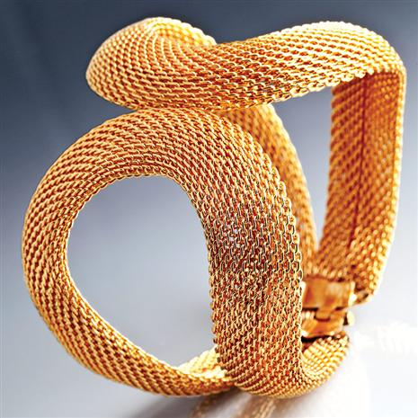 Gold-finished Serpentine Cuff