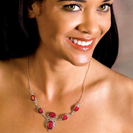 SHEBA NATURAL RUBY NECKLACE