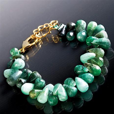 Cayman Emerald Bracelet Stauer Online Discount