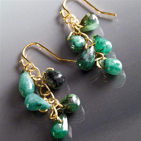 Cayman Emerald Earrings Stauer Online Discount
