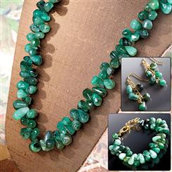 Cayman Emerald Necklace, Bracelet & Earrings Set
