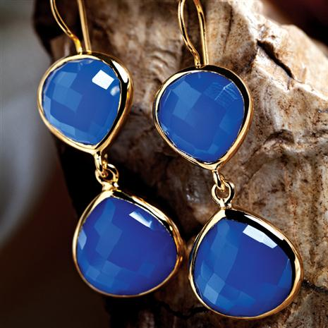 Eos Blue Chalcedony Earrings