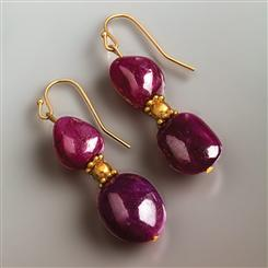 Voros Ruby Earrings