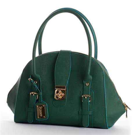 Revelatta Green Leather Handbag