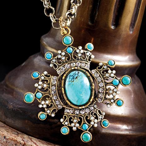 Aquitaine Turquoise Necklace Stauer Online Discount