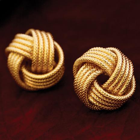 Eterno Gold-Finished Earrings