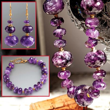 Rustica Amethyst Necklace, Bracelet & Earrings