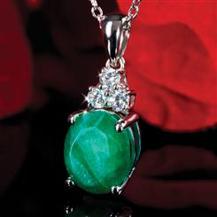 Eleganté Enhanced Emerald Pendant