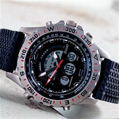 Titanium Compendium Mens Watch With Black Silicone Strap