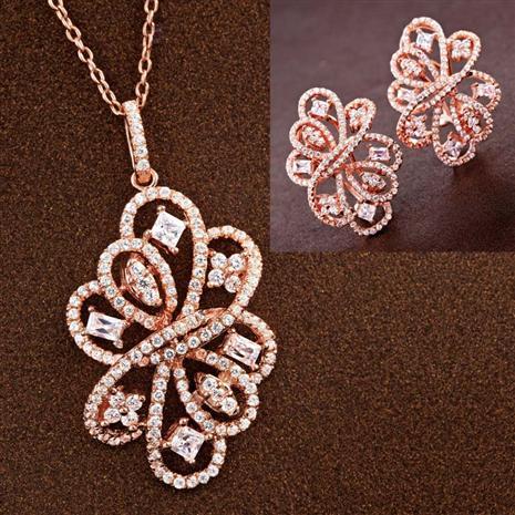 Diamondaura Tango Necklace & Earrings Set