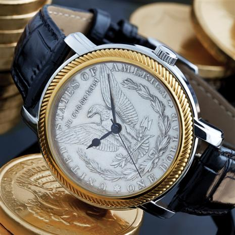 Stauer Morgan Silver Eagle Watch
