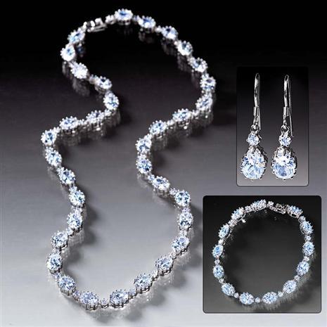 Diamondaura Rivier Bracelet, Necklace & Earrings Collection