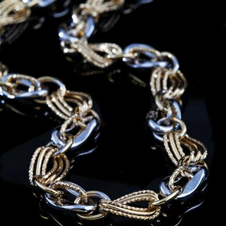 Treviso Yellow & White Gold Necklace Stauer Online Discount