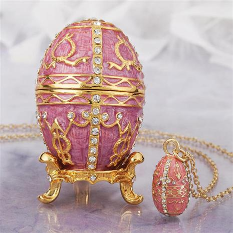 Serafina Pink Egg & Necklace