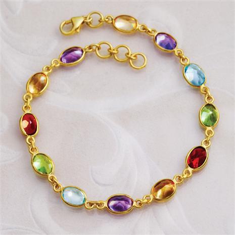 Sovrano Gemstone Bracelet Stauer Online Discount