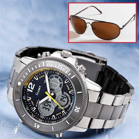 COLOSSUS DIGITAL & ANALOG WATCH & SUNGLASSES