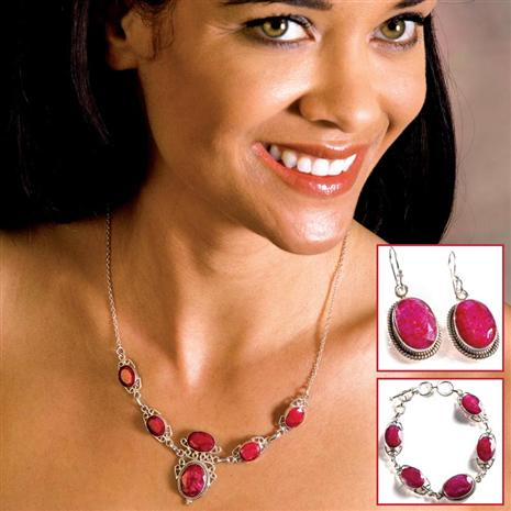 Sheba Natural Ruby Set