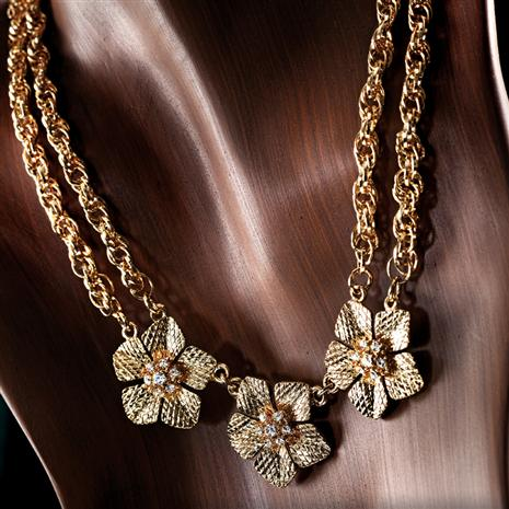 EPIPHANY GOLDEN FLOWER NECKLACE & $100 COUPON