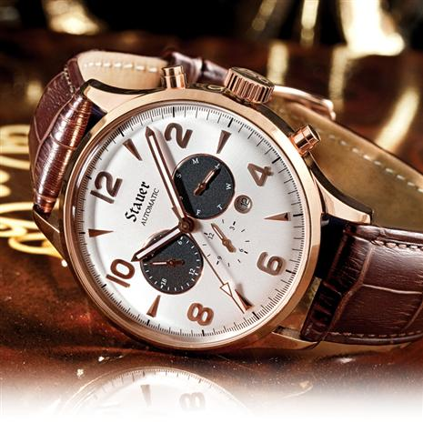 ROSE GOLD MENS AUTOMATIC WATCH