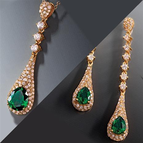 Scienza Lab Created Emerald Majestic Set