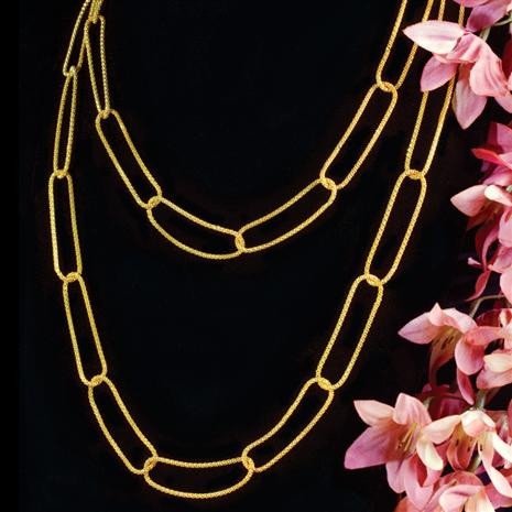 STAUER STRATA GOLD FINISHED NECKLACE
