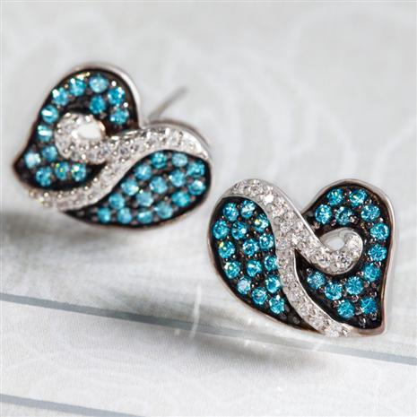DeBruges Blue Nova Diamond Earrings
