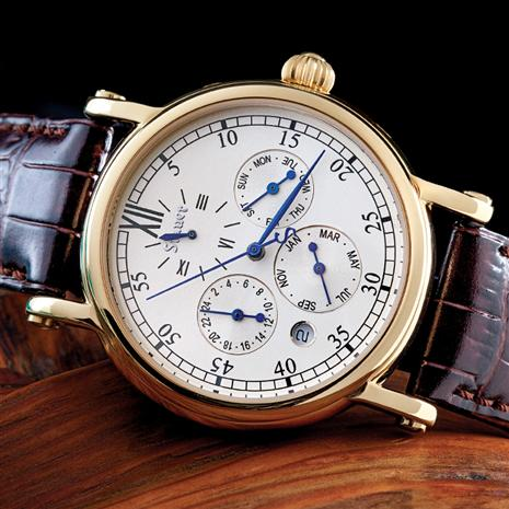 Mens Gold Color 4 Eye Automatic Watch Stauer Online Discount