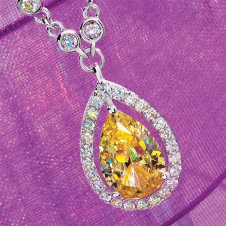 FLORENTINE CANARY DIAMONDAURA® NECKLACE