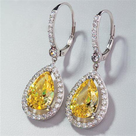 Florentine Canary DiamondAura Earrings