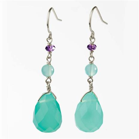 Elysian Blue Earrings Stauer Online Discount