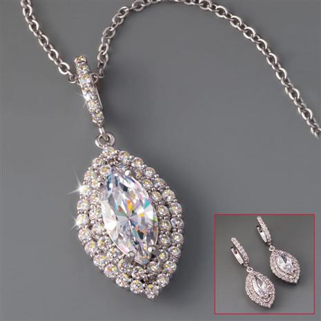 Diamondaura Maravilla Necklace & Earrings Set Stauer Online Discount