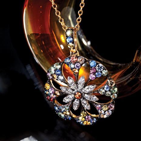 Giverny Diamond & Sapphire Pendant Stauer Online Discount