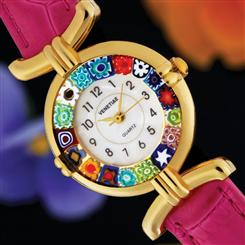 Volta Fiore Murano  Pink Womens Watch