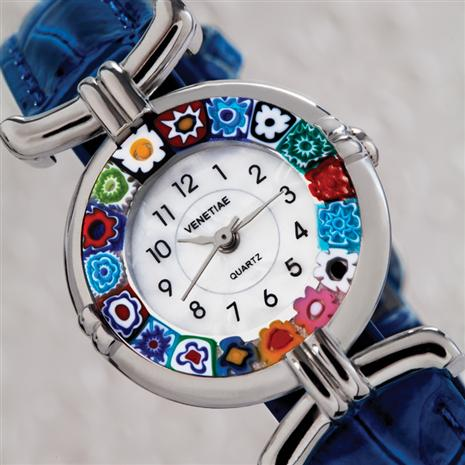 Volta Fiore Murano Blue Watch