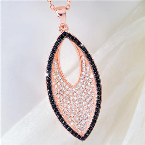 ROSE GOLD-FINISHED DIAMONDAURA® NECKLACE