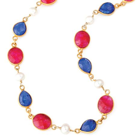 Patriotic Precious Gem Necklace
