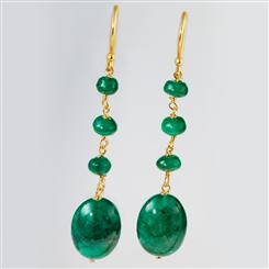 Spring Emerald Earrings