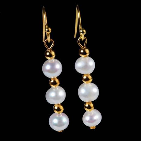 MITSUKO ORGANIC PEARL EARRINGS