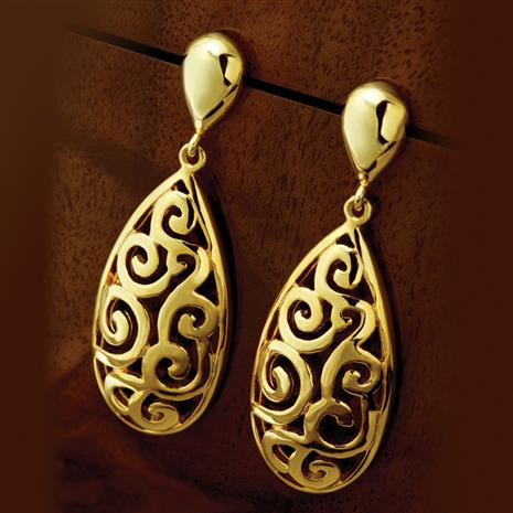 Gold Finished Callos Earrings Stauer Online Discount
