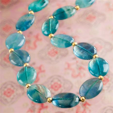 Natural Balance Fluorite Necklace