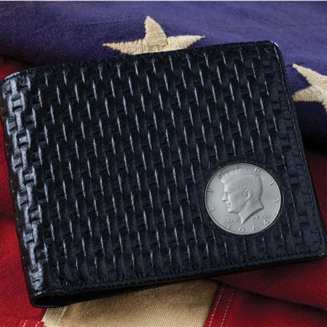 J F K Tribute Leather Wallet