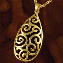 Gold-Finished Callos Necklace