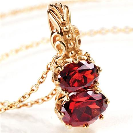 Ever After Garnet Necklace