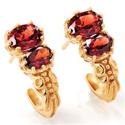 Ever After Garnet Earrings