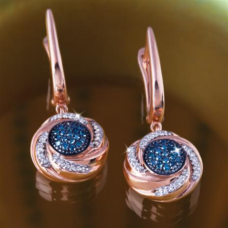 Blue Nova Diamond Earrings Stauer Online Discount