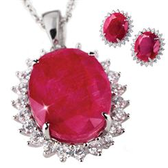 Passione Ruby & DiamondAura® Necklace & Earrings