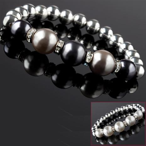 Bola Shell Pearl Bracelet Set Stauer Online Discount