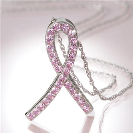 Solidarity Pink Ribbon Necklace